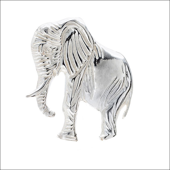 Sterling Silver ELEPHANT Stick Pin